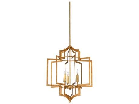 Wildwood Dover Gold Three-Light 17.5'' Wide Chandelier WL67188