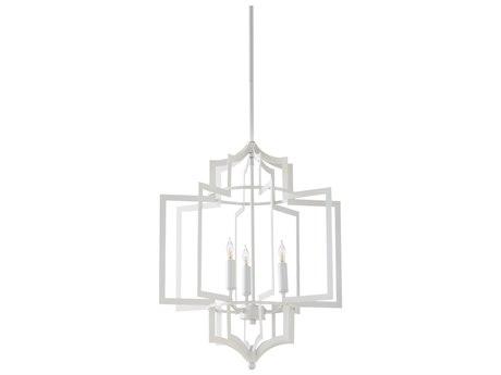 Wildwood Dover White Three-Light 17.5'' Wide Chandelier WL67189