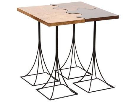 Wildwood Lamps Walnut / Burl Oak 24'' Wide Square End Table WL490179