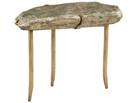 Wildwood Lamps Natural Slate / Gold 27'' Wide End Table