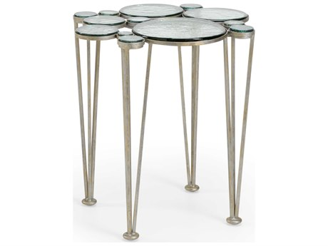 Wildwood Lamps Green / Anitque Silver 23'' Wide End Table
