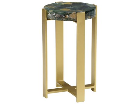 Wildwood Lamps Natural Multi Green 13'' Wide Round End Table WL490421
