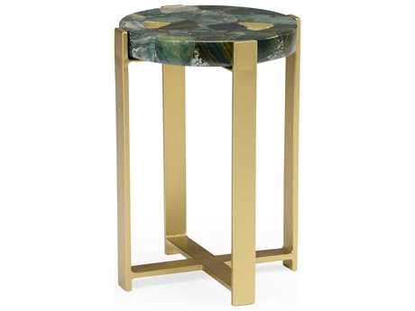 Wildwood Lamps Natural Multi Green 15'' Wide Round End Table WL490422