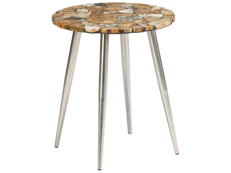 Wildwood Lamps Natural Multi Brown 18'' Wide Round End Table