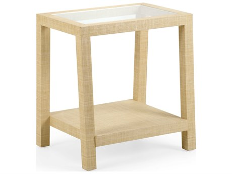 Wildwood Lamps Natural / Clear 24'' Wide Rectangular End Table WL490482