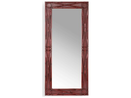 Wildwood Lamps Red / Plain Clear Floor Mirror