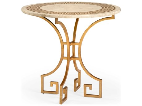 Wildwood Lamps Natural Limestone 30'' Wide Round Foyer Table WL490320