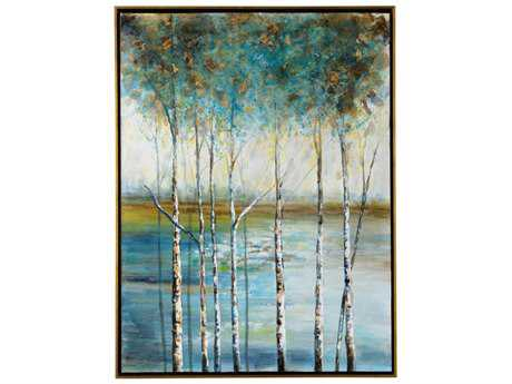 Wildwood ''Golden Birch'' Wall Painting WL395141