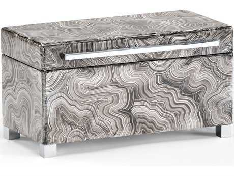 Wildwood Lamps Polished Nickel Handle And Feet Wood Footed Jewelry Box WL300693