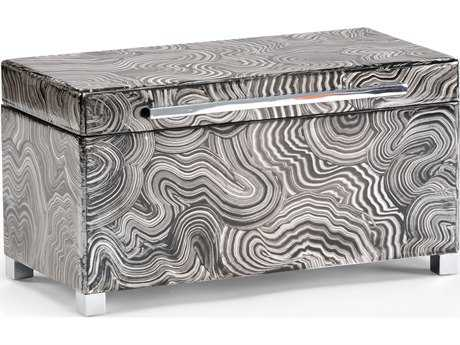 Wildwood Lamps Polished Nickel Handle And Feet Wood Footed Jewelry Box WL300694