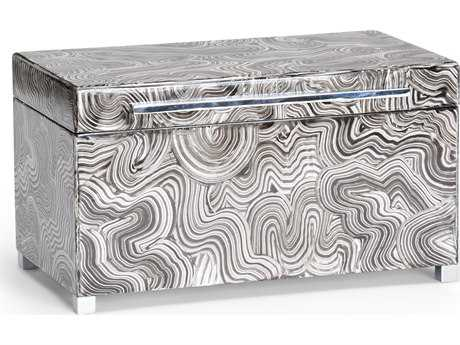 Wildwood Lamps Polished Nickel Handle And Feet Wood Footed Jewelry Box WL300695