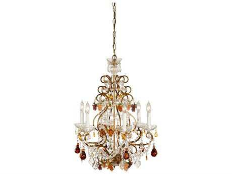 Wildwood Lamps Fruits In Crystal Six-Light Chandelier WL2297