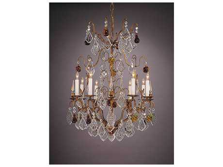 Wildwood Lamps French Gold Bronze & Lead Crystal Eight-Light Grand Chandelier WL396