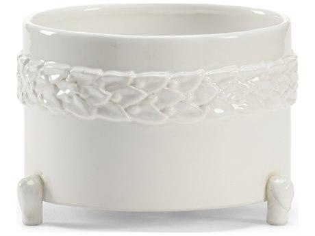 Wildwood Lamps Laurel Small White Ceramic Cachepot WL295563
