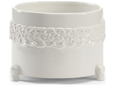 Wildwood Lamps Laurel Large White Ceramic Cachepot WL295564