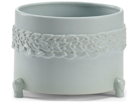 Wildwood Lamps Laurel Large Mint Ceramic Cachepot WL295566