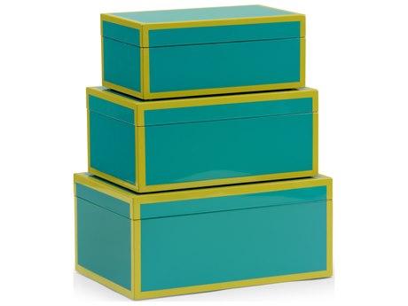 Wildwood Lamps Lexie Teal Box (Set of 3) WL301324
