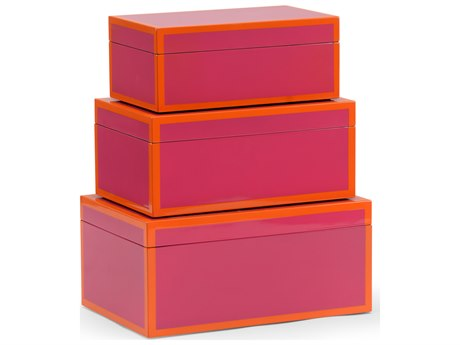 Wildwood Lamps Lexie Fushia Box (Set of 3) WL301325