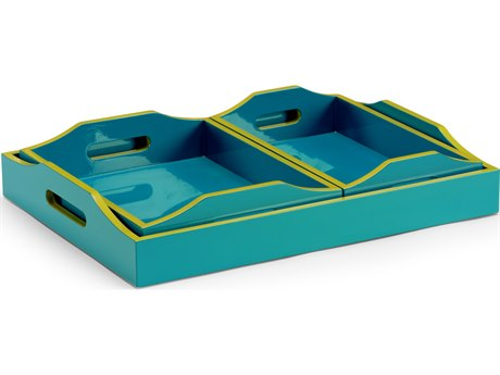 Wildwood Lamps Lexie Teal Tray (Set of 3) WL301320