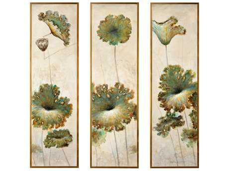Wildwood Set Of 3 ''Lotus Blossom'' Wall Painting WL395139