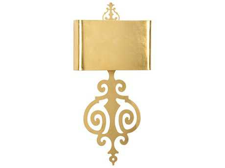 Wildwood Lucia - Gold Antique Gold Leaf Two-Light Wall Sconce WL67140