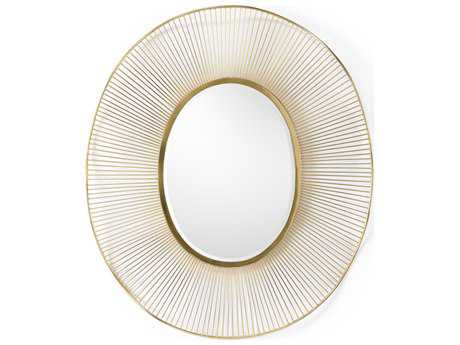 Wildwood Gold Plated Luton 30'' X 40.5'' Oval Mirror WL301148