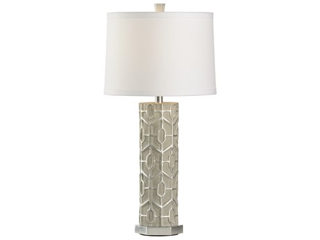 Wildwood Lamps Madie Grey And Silver And Silver Leaf Buffet Lamp WL47021