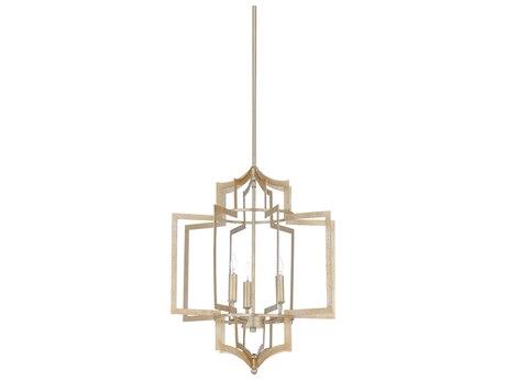 Wildwood Lamps Antique Silver Leaf Three-Light 17'' Wide Mini Chandelier WL67163