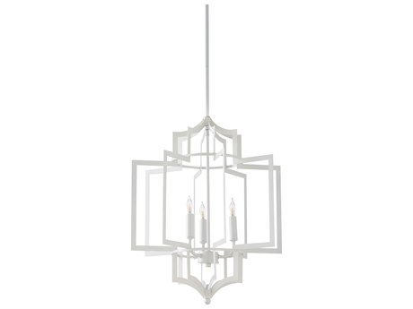 Wildwood Lamps White Three-Light 17'' Wide Mini Chandelier WL67189C