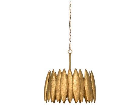 Wildwood Lamps Antique Gold Leaf Four-Light 21'' Wide Mini Chandelier WL67200
