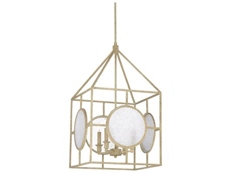 Wildwood Lamps Textured White / Clear Crackle Four-Light 17'' Wide Glass Mini Chandelier WL67222