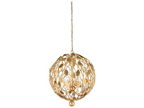 Wildwood Lamps Gold Leaf Four-Light 23'' Wide Mini Chandelier WL67325
