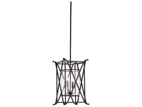 Wildwood Lamps Slate Gray / Clear Four-Light 15'' Wide Glass Mini Chandelier WL67342
