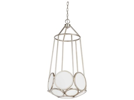 Wildwood Lamps Frosted Glass Panels Three-Light 16'' Wide Pendant WL23327