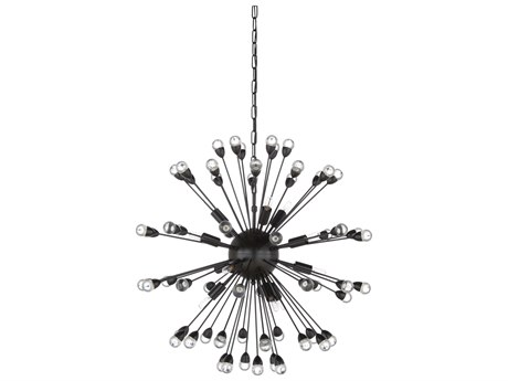 Wildwood Lamps Satin Black 12-Light 29'' Wide Pendant WL67206