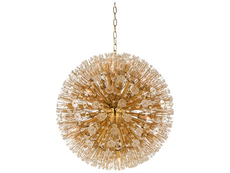 Wildwood Lamps Brass Plated / Clear 16-Light 26'' Wide Crystal Pendant WL67230