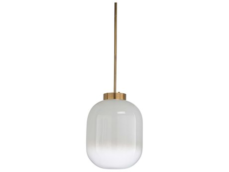 Wildwood Lamps Milk / Antique Brass One-Light 17'' Wide Glass Pendant WL67296
