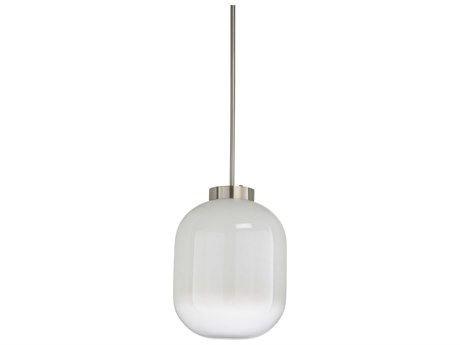 Wildwood Lamps Milk / Brushed Nickel One-Light 17'' Wide Glass Pendant WL67297