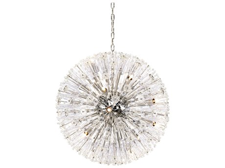 Wildwood Lamps Polished Nickel / Clear 16-Light 26'' Wide Crystal Pendant WL67357