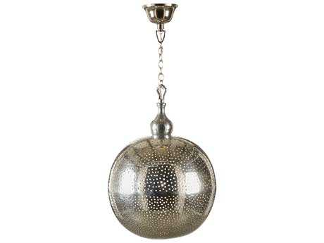 Wildwood Pierced Ball Old Silver Patina 13'' Wide Pendant Light WL67029