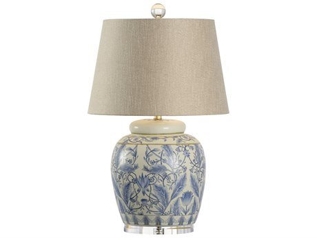 Wildwood Lamps Richmond Blue And Antique White Buffet Lamp WL60639
