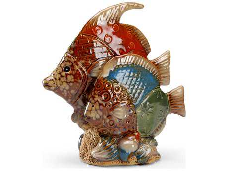 Wildwood Lamps Fun Fish Ceramic Antique Patina Sculpture (Two-Piece Set) WL292505