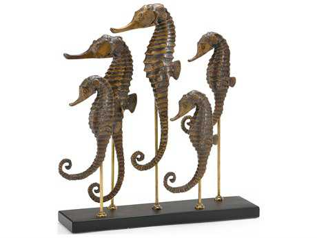 Wildwood Lamps Seahorse Family Cast Composite Sculpture WL292616