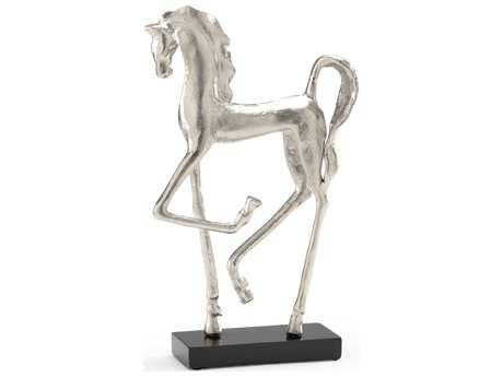 Wildwood Lamps Prancing Horse Cast Alloy Silver Sculpture WL292621