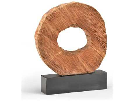 Wildwood Lamps Crosscut Log Object Mango Wood Black Base Sculpture