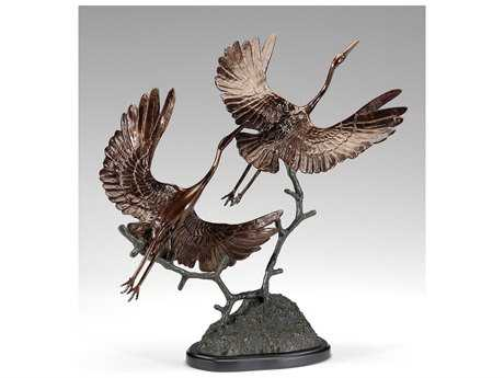 Wildwood Lamps Cranes Take Off Cast Alloy Sculpture WL295113