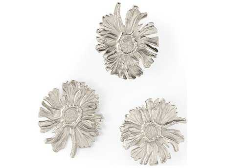 Wildwood Lamps Daisy Chain Cast Aluminum Natural Casting Sculpture (Set Of Three) WL300659