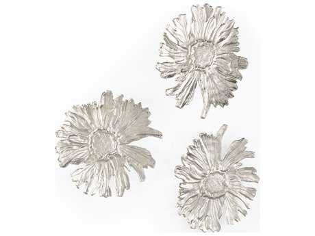 Wildwood Lamps Daisy Chain Large Cast Aluminum Natural Casting Sculpture (Set Of Three)