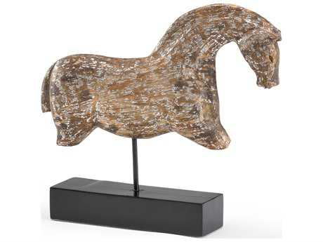 Wildwood Lamps Footless Horse Wood Museum Reproduction Worn Silver Sculpture WL300698