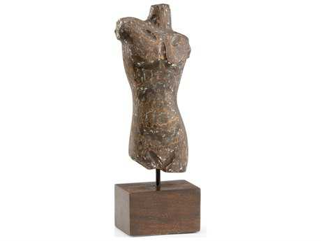 Wildwood Lamps Torso Wood Distressed Sculpture WL300729